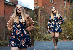Emma Reay - Shein Floral Dress, Shein Teddy Coat - Teddy Bear