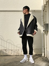 ★masaki★ - Obey Beanie, Asos Sharling Jacket, Neuw Denim Jeans, Adidas Yung1 - Black & White