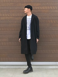 ★masaki★ - Neuw Denim Coat, Joy Division Unknown Pleasure, Bershka Skinny Jeans, Dr. Martens 3hole - What a Lovely Day