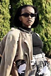 Reneilwe Masekoameng - Property Of Society Crop Jacket - In Your Space Editorial