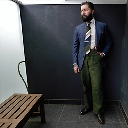 Jared Acquaro - Real Mccoys Fatigue Pants, Preventi Acquaro, Paolo Albizzati Vintage Rep - Sartorial Surplus
