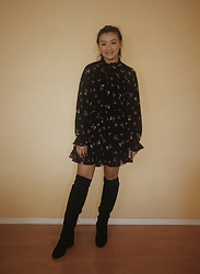 Haley D. - Missguided Tea Dress, Sam Edelman Booties - Tea Dress.
