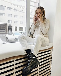 JANINA ERMOLAEVA - Zara Boots, Zara Jeans - It's Coffee Time
