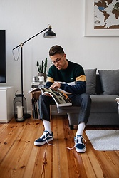 Kevin Elezaj - Vans Sneakers, H&M Suit Pants, Lacoste Sweater, Yun Glasses - Developing