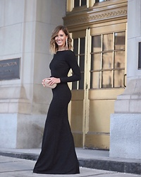 Marie's Bazaar - Maxi Black Gown Dress - Holiday cheer