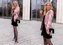 Sunnyinga - Loavies Blazer, Loavies Skirt, Zara Bag, Sacha Shoes - XMAS Dinner Outfit