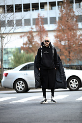 INWON LEE - Byther Hoodie, Y3 Shoes - Chic black