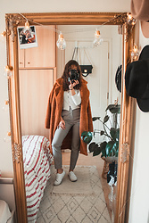 Theoni Argyropoulou -  - Styling the teddy bear coat on somethingvogue.com