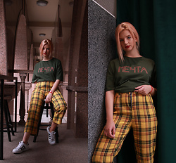 Vlada Kozachyshche - Zaful Pants, Booriva T Shirt, Adidas Sneakers - Your Dream