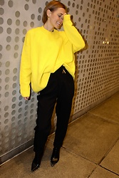 Anna Borisovna - Other Stories Sweater, Zara Pants, Céline Shoes - The Yellow Sweater