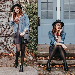 Mackenzie S - Urban Outfitters Uo Alexa Babydoll Dress, Sechelles Seychelles Booties, Levi's® Levi's Ex Boyfriend Trucker Jacket, Brixton Messer Fedora, Coach Station Bag - Challenge Accepted!