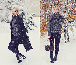 Anca Varsandan - Louis Vuitton Bag, Zaful Boots, Zara Trench, C&A Jeans - Winter Wonderland