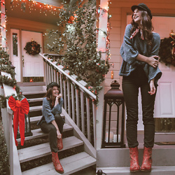 Shelly Stuckman - Madewell Bandana, Sofft Boots, American Eagle Jeans, Free People Hat - Merry & Bright