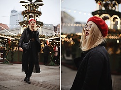 Paulina Dworakowska - Stradivarius Beret, Primark Coat, Mohito Dress, Zara Shoes - Merry Xmas