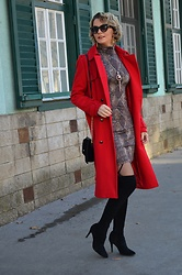 Butterfly Petty - Orsay Coat, Mojito Boots, Guess Bag - Christmas outfit