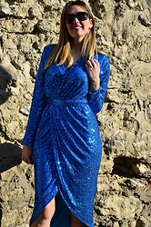 Elisabeth Green - Dokotoo Dress - Blue Sequins Dress