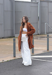Claudia Villanueva - Shein Coat, Stradivarius Top, Bershka Bag, Bershka Pants - Favorite coat of the season