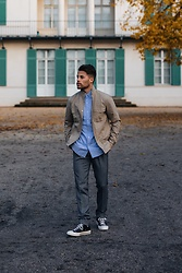 Kevin Elezaj - Converse Sneakers, Topman Suit Pants, Gap Shirt, United Colors Of Benetton Jacket - Throwback to autumn days