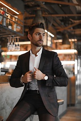 Henry & William Wade - Burton Menswear Suit Jacket, Daniel Wellington Watch, Burton Menswear Trousers - Suit up