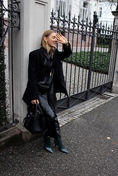 Anna Borisovna - Other Stories Blazer, Zara Dress, Céline Bag, Mango Shoes, H&M Pants - The Leather Dress