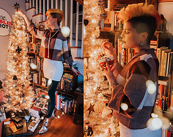 Carolyn W - Shein Plaid, Black Milk Clothing Chic, We Love Colors Evergreen, Urban Outfitters Silver - Bright & Merry