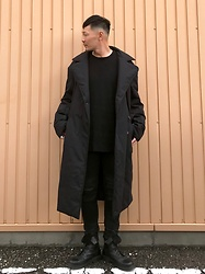 ★masaki★ - Komakino Big Coat, H&M Oversized Knit, Neuw Denim Jeans, Dr. Martens Limited 10hole - What a lovely day