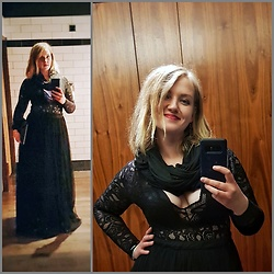 Justina - Asos Maxi Skirt, Boohoo Body Suit - Fancy birthday dinner