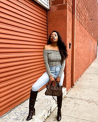 Shanell Holland - Balenciaga Bag, Forever 21 Boot - Gloomy Day Chic