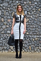 Elisabeth Green - Rosegal Dress - Black and White Lace