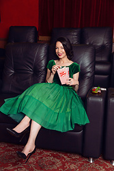 Lisa Valerie Morgan - Vintage Dress, Zara Pumps - Mrs. Maisel's Marvelous Mojitos