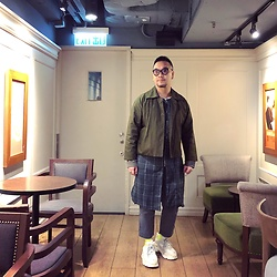 Mannix Lo - Online Shop Layered Long Coat, Uniqlo Cropped Pants, Balenciaga Triple S Sneakers - Find someone who see your madness as magic