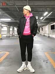 ★masaki★ - Warren Scott Watch, Spiewak Bomber, Komakino Hoodie, Ch. Wool Cropped, Adidas Shoes - 90's Style