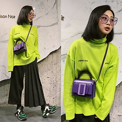 Dawn Kuo - Boyy Fred Bag, Naked Wolfe Sneaker, For Art'S Sake Sunglasses - Fluorescent Green