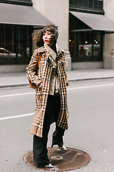 Tracy Qiu -  - Plaid Trench Coat