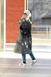 Eniwhere Fashion - Kipling City Pack S, Zara Coat, Adidas Superstar - Because the black backpack is a right choice