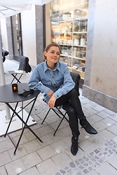 Anna Borisovna - H&M Jacket, Mango Pants, Zara Shoes - The Denim Jacket