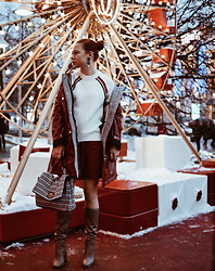 Jenny Danilkova - Mango Jumper, Coccinelle Bag, Penny Black Parka Jacket - Winter magic