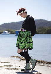 Jennifer Hankin - Dr. Martens Boots, Home Made Skirt - Plant Life