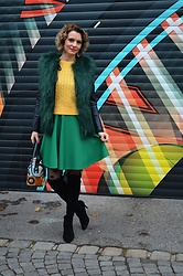 Butterfly Petty - Mojito Boots, Zaful Sweater, Rady Vest - How to wear green during winter