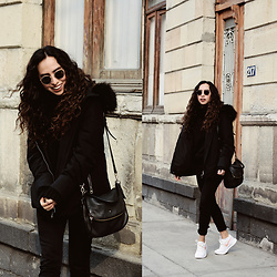 Attalia DASBEL - Zara Jacket, Levi's® Jeans, Kate Spade Bag - My winter outfit