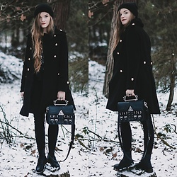 Karolina N. - Zaful Coat, Disturbia Chaos Bag, Dr. Martens Boots - DR MARTENS, DISTURBIA AND...