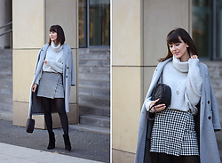 Daisyline . - Mango Skirt, Zara Sweater, Pull & Bear Bag, Zara Coat, Mint&Berry Shoes - Gray is always a good idea / IG: daisylineblog