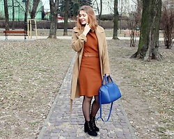 Aleksandra Siara - Stradivarius Coat - Brown winter look