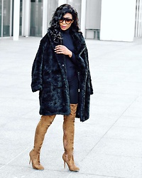 Eunice Addo -  - Black Teddy Coat