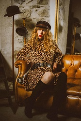 Alexe Bec - Y. Dress, Fallen Broken Street Cap, Mango Boots - All we need is a leopard dress.