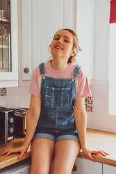 Katie Louise Williams -  - Sunday calls for dungarees!