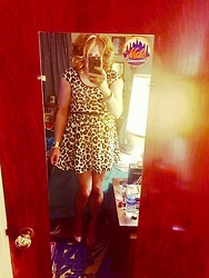 Jennifer S - H&M Leo Dress, Steve Madden Nude Heels, Macy's Bangle, Express Gold Cuff - Leo Dress