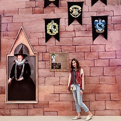 Syrena Hung - Charles & Keith Shoes, Mango Jeans, Zara Blouse, Furla Bag - Welcome to hogwarts
