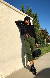Shanell Holland - Louis Vuitton Bag, H&M Boots - So serious.