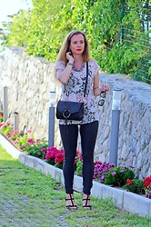 Rimanere Nella Memoria - Freddy Pants, Justfab Bag - Black & White Outfit